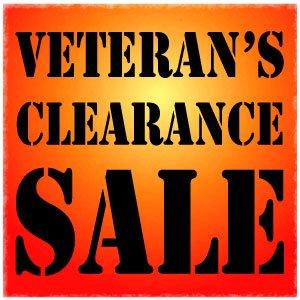 Veteran's Clearance Sale