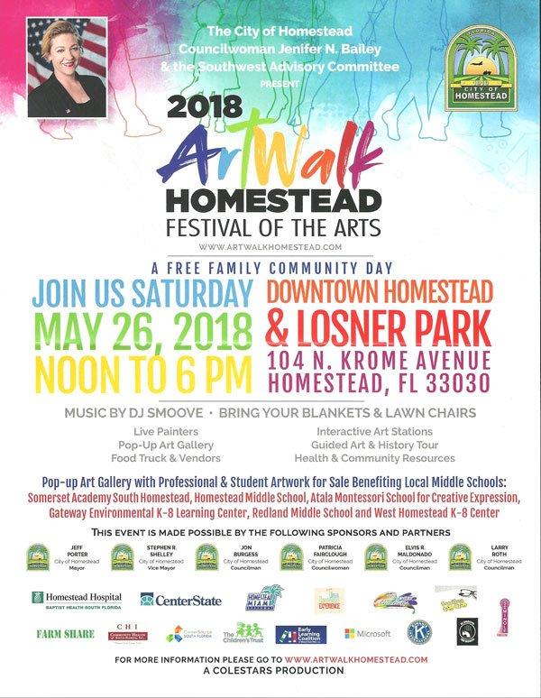 Homestead Art Walk - May, 2018