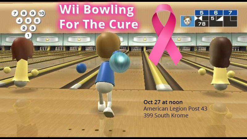 Annual Wii Bowling For The Cure