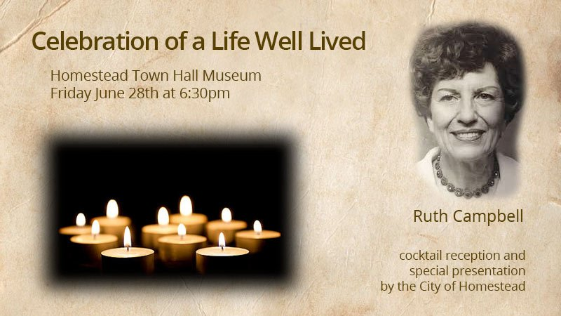 Ruth Campbell - Celebrating a Life Well Lived