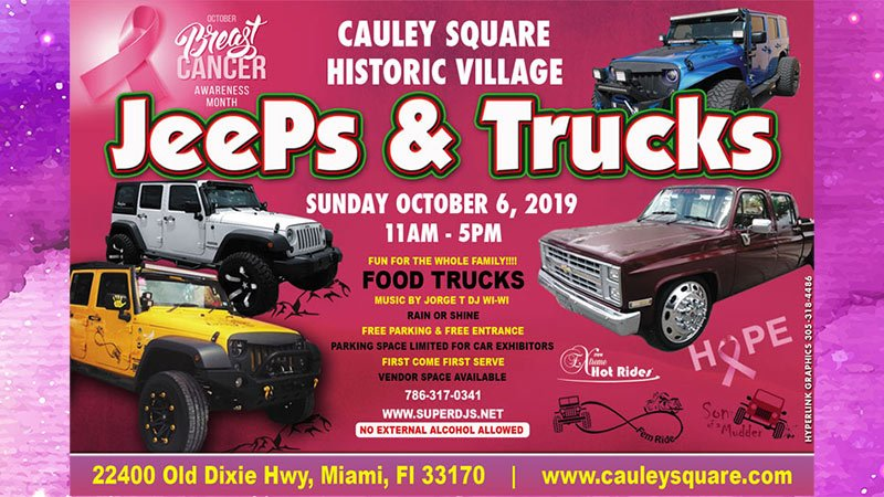 Jeeps and Trucks Show at Cauley Square