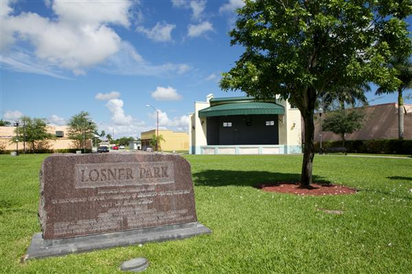 Losner Park in downtown Homestead