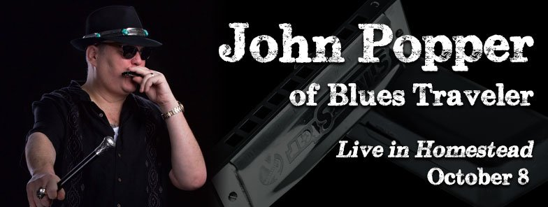 John Popper, the iconic, charismatic lead singer of Blues Traveler at Seminole Theatre