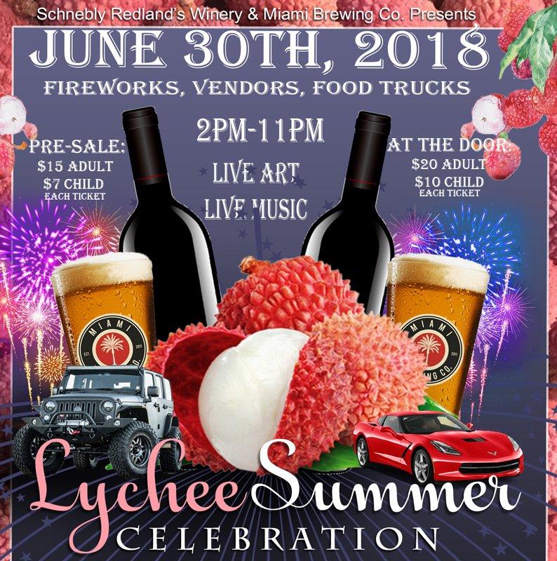 Lychee 2018 Celebration at Schnebly Redlands Winery