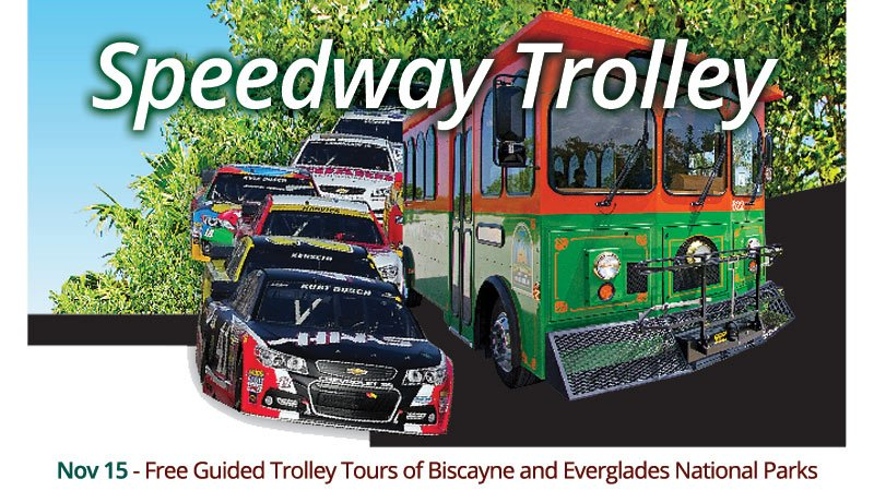 Speedway Trolley - free guided tours of Biscayne and Everglades National Parks from the Homestead-Miami Speedway
