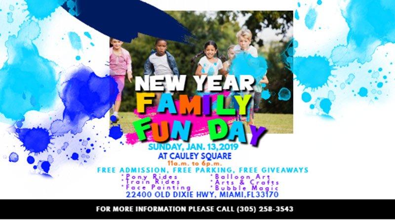 New Year Family Fun Day at Cauley Square