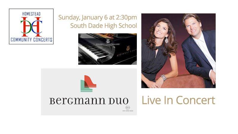 Homestead Community COncerts - Bergmann Piano Duo – American Stories