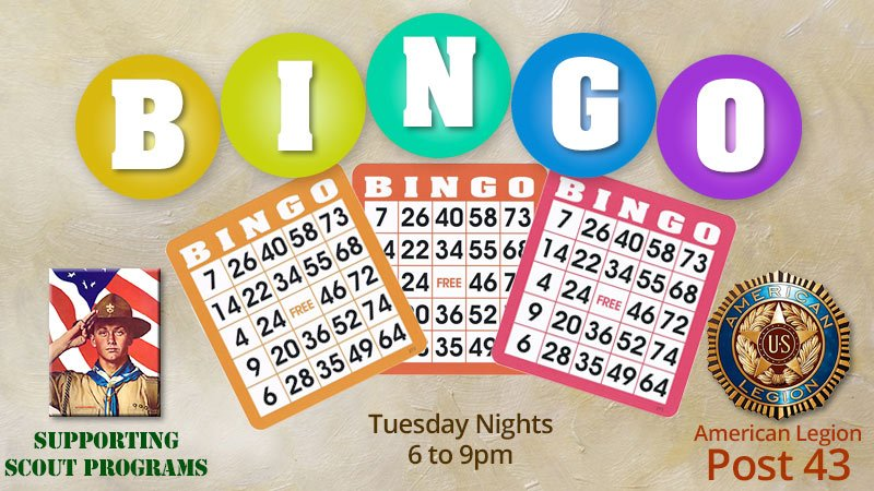 Tuesday Bingo at American Legion Post 43