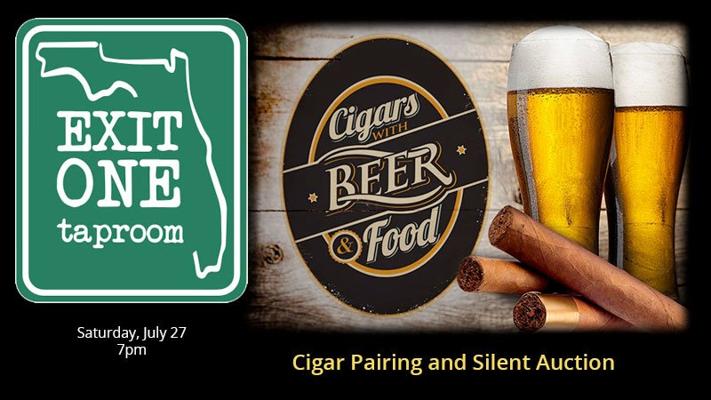 Exit One Taproom - Cigar Pairing Night with Silent Auction