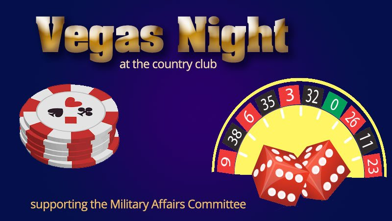 Vegas Night at the Country Club Supports Military Affairs