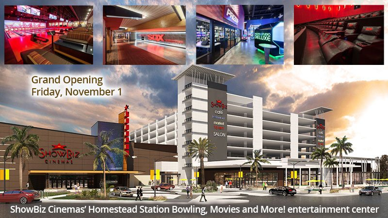 ShowBiz Cinemas' Homestead Station Bowling, Movies and More! entertainment center