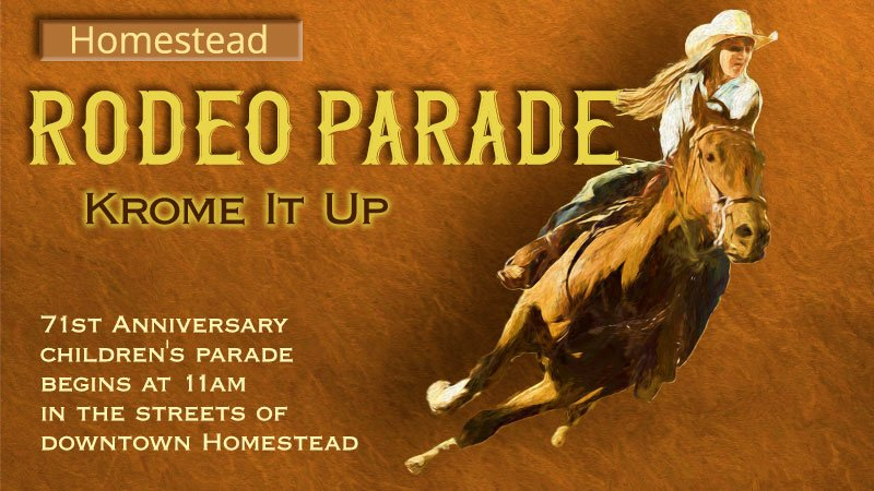 Rodeo Parade through Historic Downtown Homestead