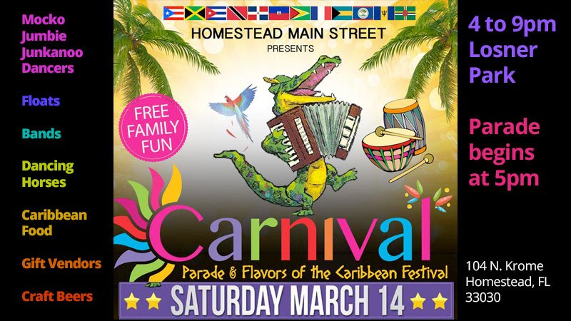 10th Annual Homestead Main Street Carnival Parade and Festival